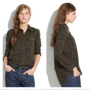 Madewell Tomboy Workshirt in Camo Button Down